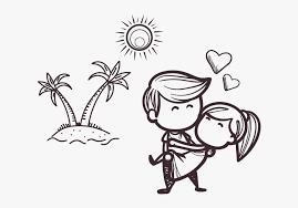 black cartoon love couple