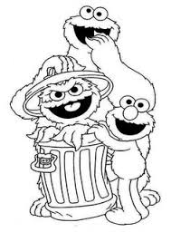 Small Picture Here we provide some black and white sesame street coloring pages