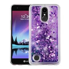 Quicksand Glitter Lg K20 V / Plus Harmony Case - Hearts/purple LG Cases | MyPhoneCase.com