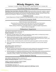 Dental Resume Template Beautiful 25 Dental Assistant Job Description