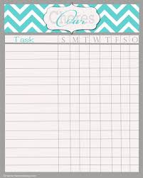 chore chart template for teenagers wonderful simple chore chart template pictures inspiration example