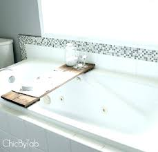 bathtub shelf bathtub tray for laptop shelf reading tub pole shelves recessed bathtub shelves