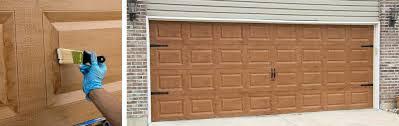 painting a garage door how to paint your garage door to look like wood painting metal