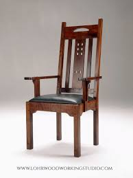 wooden chairs with arms. Exellent Chairs Arts And Crafts Style Dining Chair With Arms In Wooden Chairs With Arms