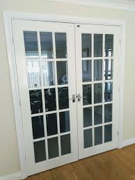 details about pair of internal french doors with beveled glass and white gloss finish