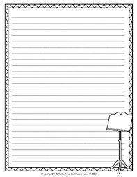 Music Writing Paper Music Themed Stationary Lined Writing Paper For Writing Projects