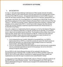 work statements examples 12 work statements examples proposal bussines