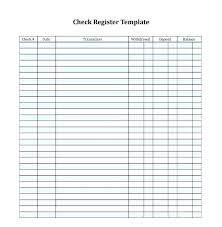 Check Register Printable Bank Checkbook Register Full Page Ledger Template Printable