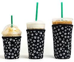 Tim hortons' roll up the rim to win is going to look different this year. Reusable Insulated Neoprene Iced Coffee Beverage Sleeves Cold Drink Cup Holder For Starbucks Coffee Mcdonalds Dunkin Donuts Tim Hortons And More Black Animal Paw Print 3 Pk Sm Med Lg Amazon Sg Home
