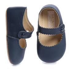 early days girls navy blue leather emma pre walker shoes childrensalon