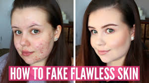 pics of how to fake flawless skin without makeup