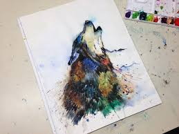 wolf howling painting. Delighful Painting In Wolf Howling Painting N