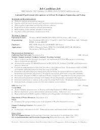 Programmer Resume Examples Sample Programmer Resume Example Of