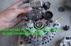 obd0 w obd2 distributor and alternator honda tech i dunno bout that dizzy wiring but i know u can swap the board on the alternator to the old round plug so its plug and play