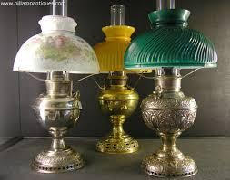 a selection of table antique oil lamps kerosene lamps