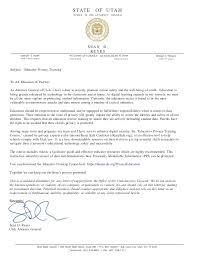 Ag Recommendation Letter