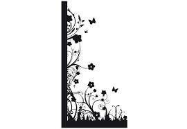 Small Picture Floral Design Corner Wall Sticker Decorative Vinyl Decal