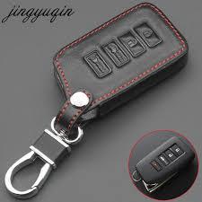 jingyuqin leather 4 on remote key case chain for lexus nx 200 nx300h rx 350 450h es 350 es 300h car key cover fob holder