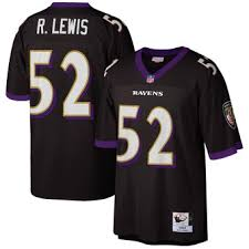 Jersey – Ravens amp; Black Mitchell Authentic 2004 Reed Ness Ed Player Retired Throwback Baltimore