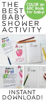 Abc Book Template Diy Baby Shower Activity Alphabet Color