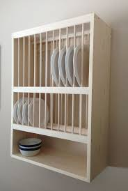 Plate Storage Rack Kitchen Wooden Plate Racks For Kitchens Maxphotous