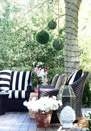 black and white cabana stripe outdoor pillows designs