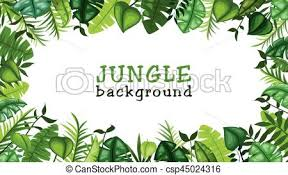 jungle background vector.  Vector Jungle Vector Background With U