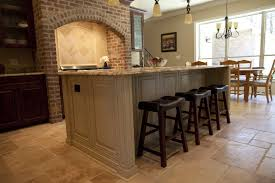 Kitchen Island Electrical Ideas Combined Kitchen Island In Black And Oak  And 2 Bar Stools