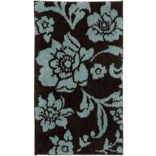 bathroom modern aqua and brown large bath rugs for appealing