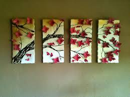 upcycling diy wall art 4 panel cherry blossom tree
