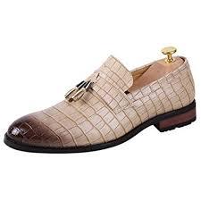 DGG7 <b>Men</b> Leather <b>Shoes</b> Fashion Classic Wild Crocodile Pattern ...