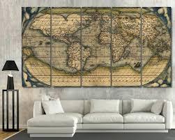 vintage paris maps wall art