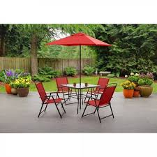 folding patio set 6pcs bistro table