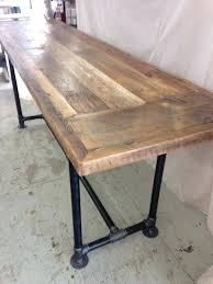 reclaimed wood kitchen tables reclaimed wood dining table industrial 8 ft x 2 ft height counter reclaimed wood kitchen tables