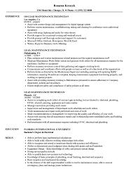 Lead Maintenance Technician Resume Samples Velvet Jobs
