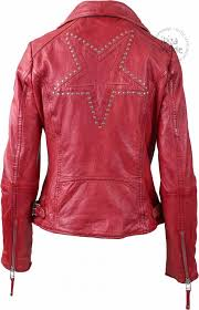 freaky nation leather jacket star freaky nation indian red