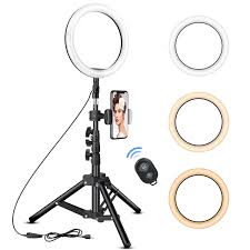 Ring Light Tripod For Iphone 10 Inch Ring Light With Tripod Stand Rovtop Led Camera