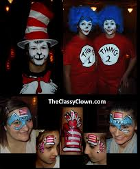 dr seuss cat in the hat thing 1 thing 2 face painting party fun from chicago face painters