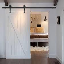 6 ft black modern antique style sliding barn wood door hardware closet set walmart