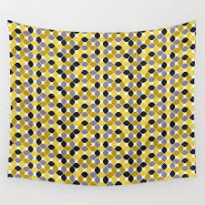 yellow grey navy blue mustard spot