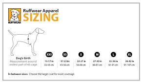 Chaser Size Chart Ruffwear Cloud Chaser Waterproof Dog Jacket