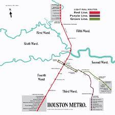 Houston Proposed Light Rail Map Light Rail Swamplot