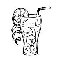 iced tea clip art black and white. Fine Black Iced Drink With Fruit Slice To Tea Clip Art Black And White