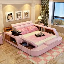 modern bedroom furniture with storage. Modren Modern Modern Leather Queen Size Storage Bed Frame With Bookcase Cabinets  Stool No Mattress Bedroom Furniture Sets B02qin Beds From Furniture On  And Modern Bedroom With Storage
