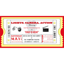 movie ticket cinema drive in birthday party printable invitation movie ticket cinema drive in birthday party printable invitation