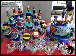 Justice League Cake Cupcakes Cookies