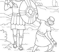 David And Goliath Coloring Page Free And For Children Printable Best