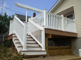 exterior wood railing. amazing deck with stair for exterior decoration white wood handrail railing n