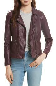rebecca taylor washed leather moto jacket alex evenings metallic jacquard twinset plus size pare s