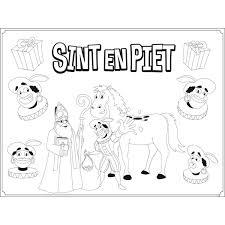 Sinterklaas Placemats Kleurplaten